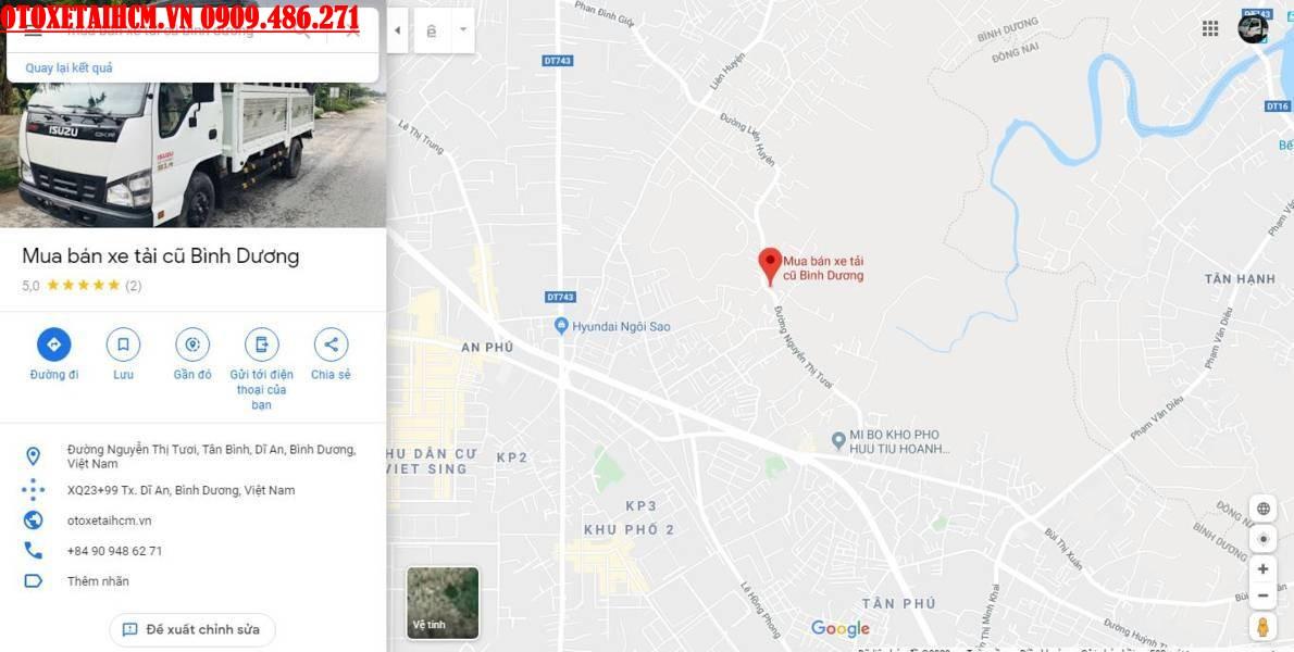 vị trí bãi gửi xe ô tô bình dương