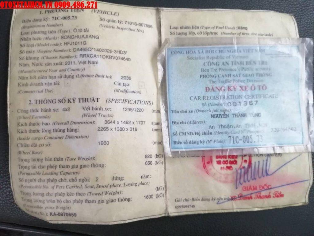 giấy tờ xe